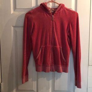 Juicy Couture velvet zip hoodie